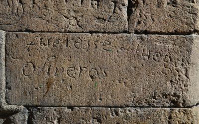 Maybe the oldest politic graffiti in the city, during the Secession War (1640-1652), called in Catalunya Guerra dels segadors